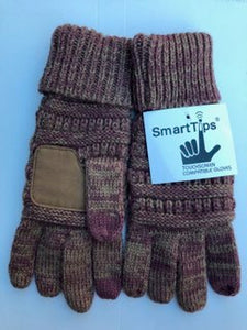 C.C. Two Tone Touch Screen Glove