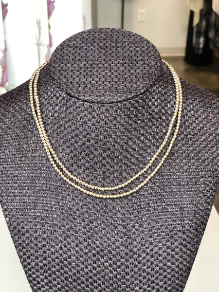 Bead Necklace 3mm