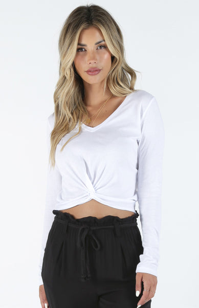 CROPPED KNOT TEE