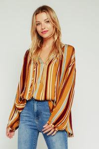 Mustard Striped Blouse