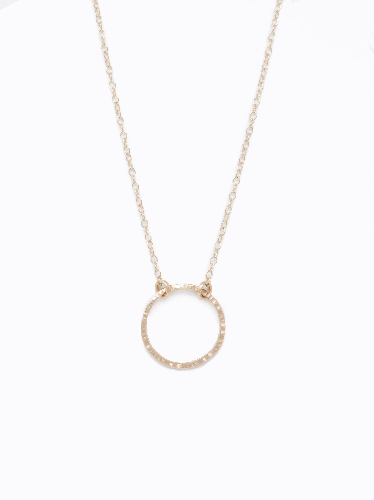 Floating Shape Necklace: Circle