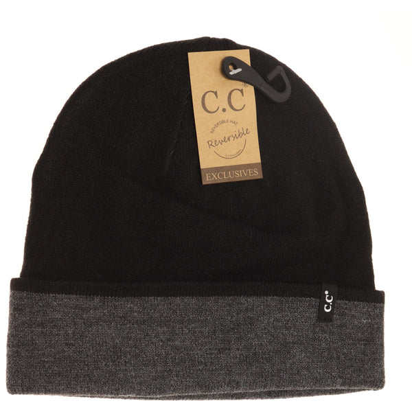 Two-tone Reversible Beanie