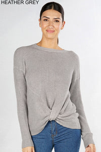 Thermal L/S Knot Front Sweater