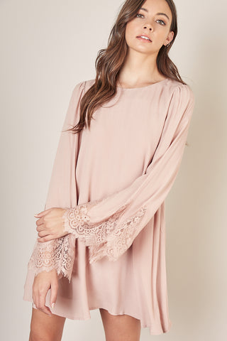 Dress Lace Bell Sleeve