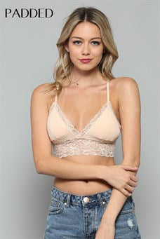Lace T-Back Padded Bralette