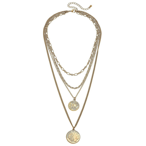 Brooklyn Layered Coin Necklace