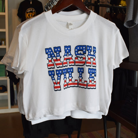 Nashville Stars & Stripes Crop