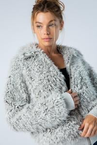 Two Tone Fuzzy Jacket