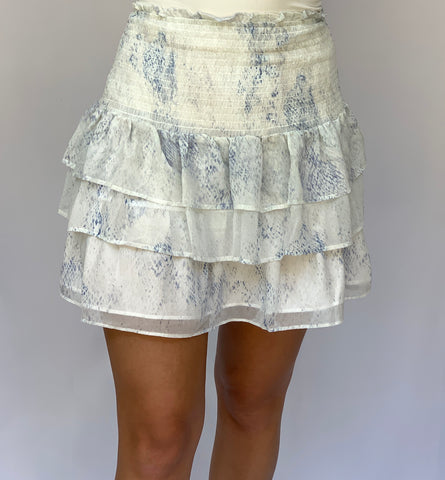 Smocked Ruffle Skirt