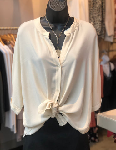 Dolman S/S Button Up