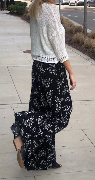Floral Lightweight Smocked Pants