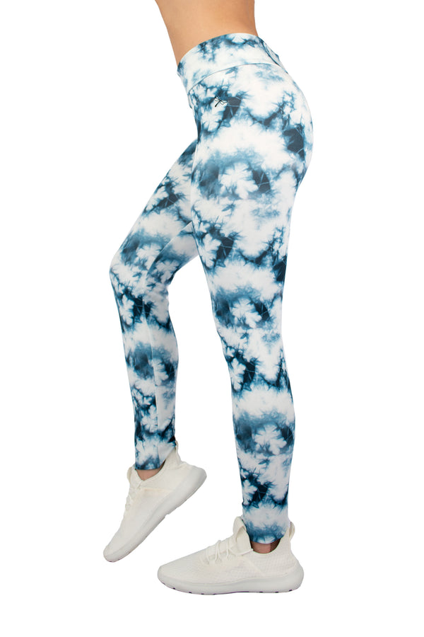 Leggings Deportivos: Aqua White Storm Blue