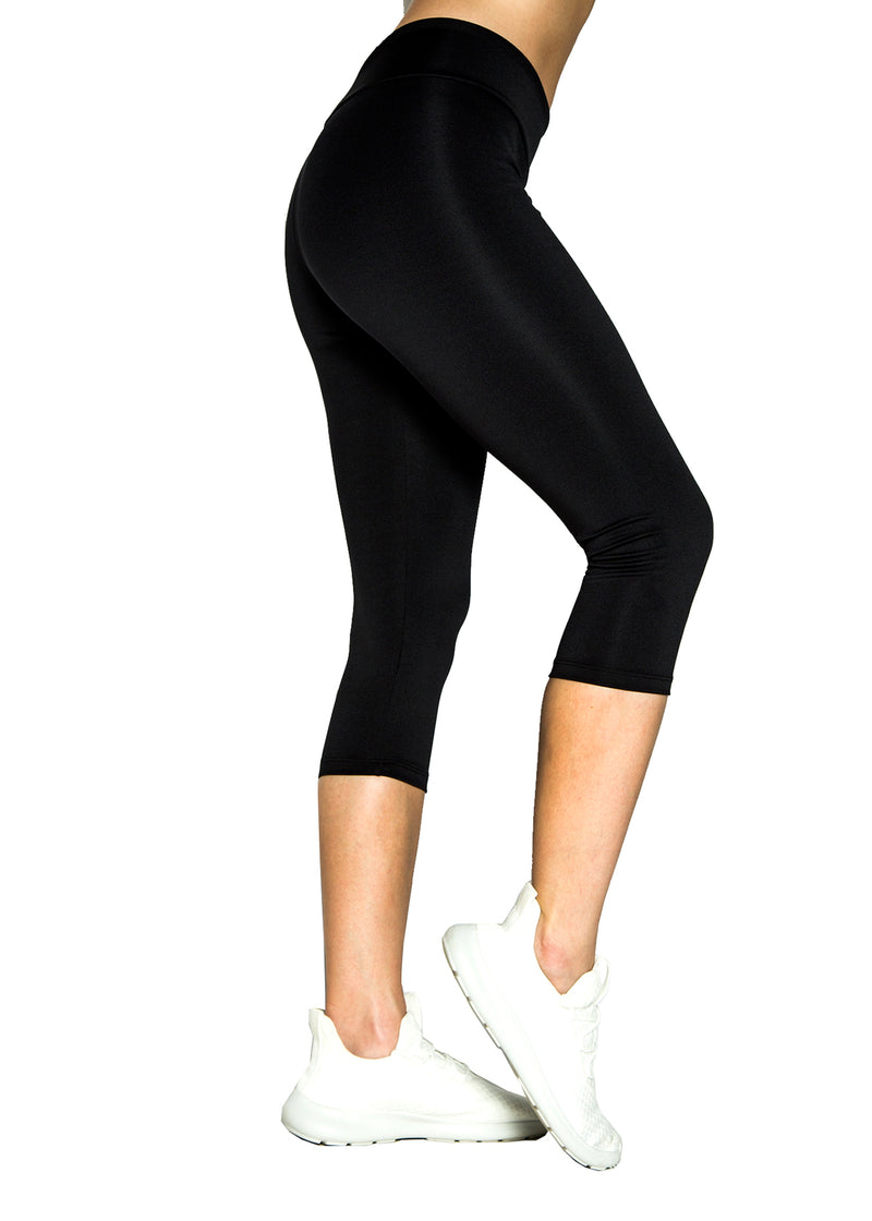 Leggings Negros Capri Smooth - Reciclado Mar