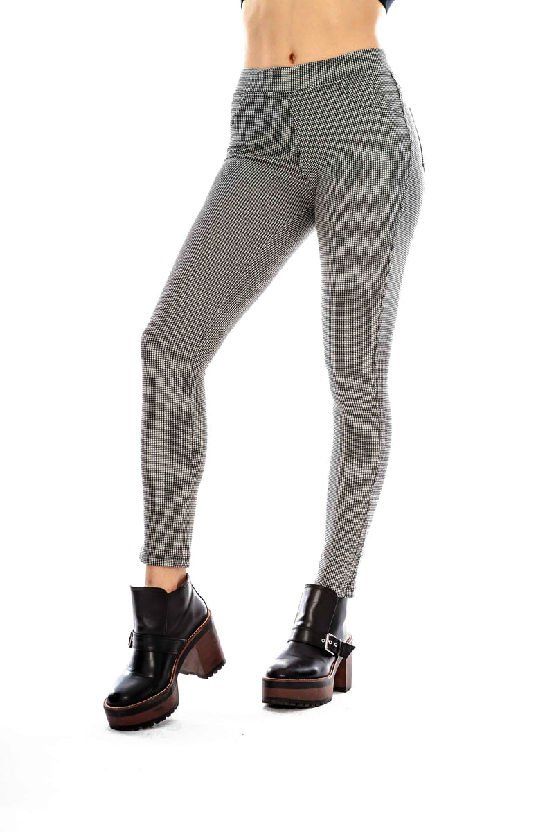 Leggins a Cuadros Negro y Blanco · Crows Foot