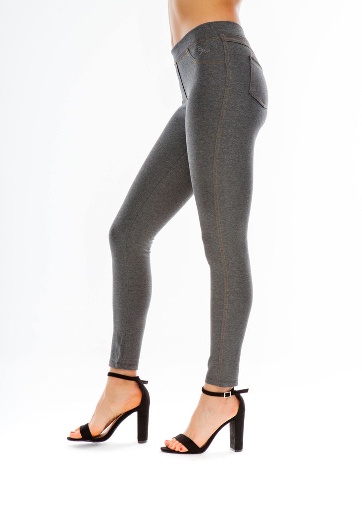 Jeggings y Leggins Tejanos Gris · Moda Sostenible