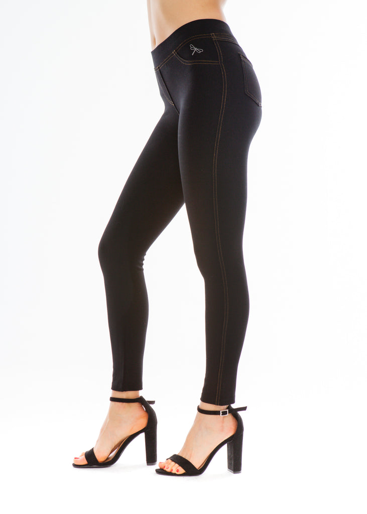 Jeggings y Leggins Tejanos Negro · Moda Sostenible