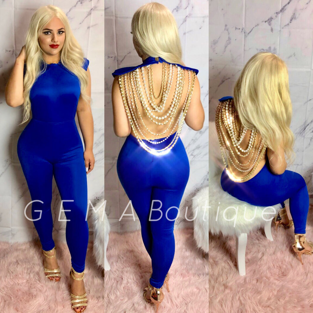 Mother Of Pearl Jumpsuit - Royal Blue