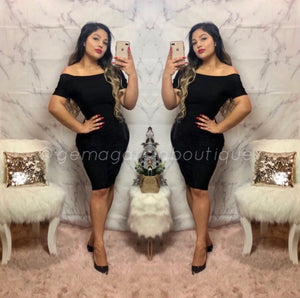 Evening Bandage Dress - Black