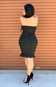 Emma Bandage Dress - Black
