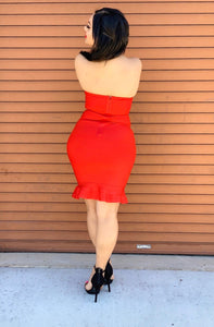 Emma Bandage Dress - Red