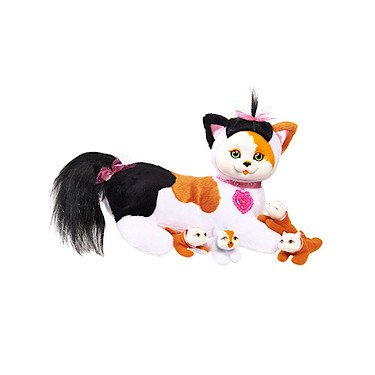 Kitty Surprise Plush Calico Cat & Kittens - Maple