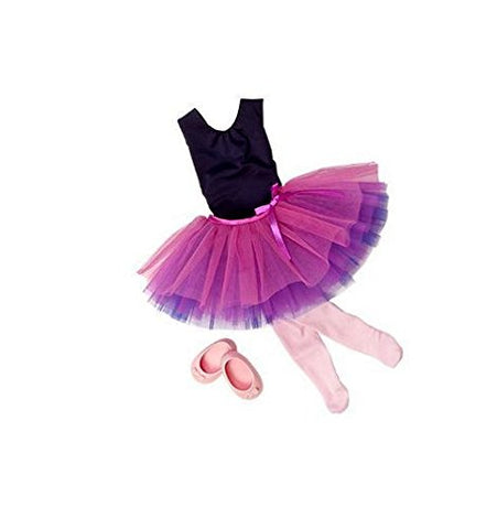 Our Generation Dance Tulle You Drop Ballerina Outfit And Accesory Set For 18 Poseable Doll