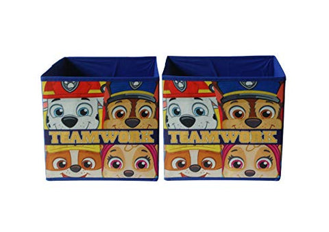 Nickelodeon Paw Patrol Storage Cubes (2 Piece), Blue