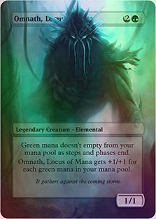 Omnath, Locus Of Mana - Casual Play Only - Customs Altered Art Foil