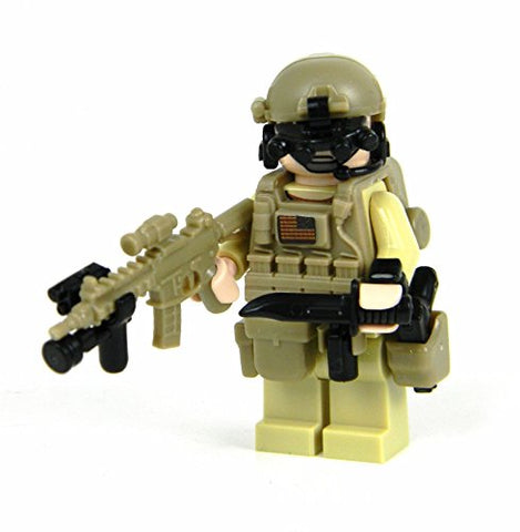 Seal Team 6 Commando (Sku47)- Battle Brick Custom Minifigures