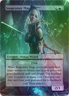 Snapcaster Mage - Casual Play Only - Customs Altered Art Foil