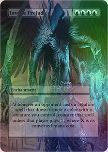 Invoke Prejudice - Casual Play Only - Customs Altered Art Foil
