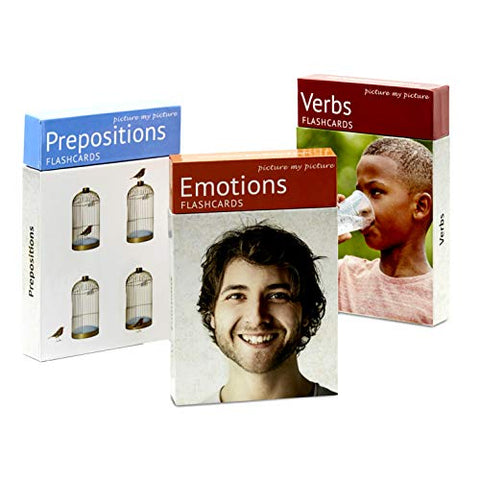 Picture My Picture Feelings And Emotions, Prepositions And Verbs Flash Card Pack