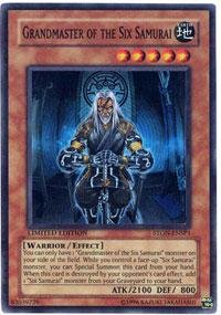Yu-Gi-Oh! - Grandmaster Of The Six Samurai (Ston-Ensp1) - Sneak Preview Series 3 - Limited Edition - Super Rare