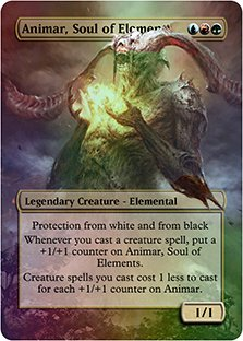 Animar, Soul Of Elements - Casual Play Only - Customs Altered Art Foil