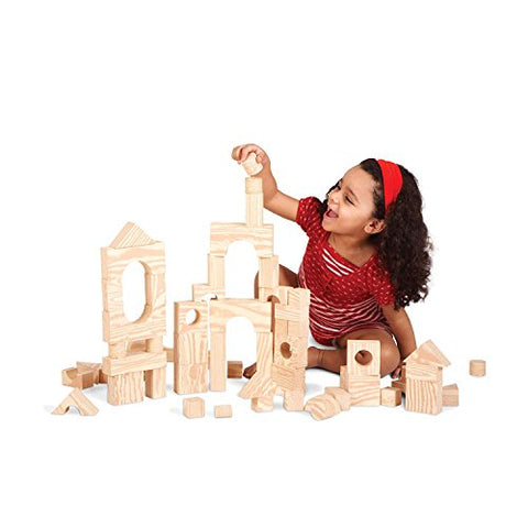 Edushape Wood Like Soft Blocks, 60 Pieces