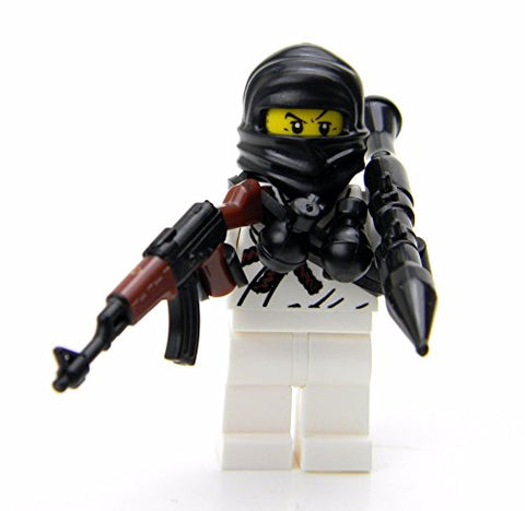 Mercenary Soldier (Sku37)- Battle Brick Custom Minifigure