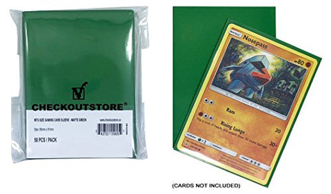 Checkoutstore (100) Protective Sleeves For Trading Cards (66 X 91 Mm) (Matte Green)