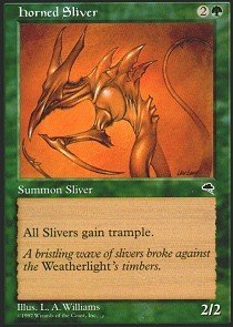 Magic: The Gathering - Horned Sliver - Tempest
