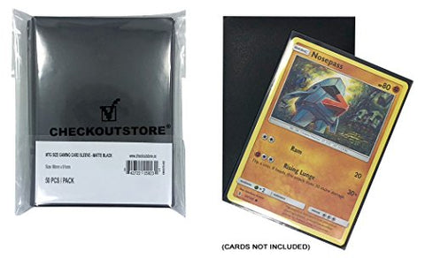Checkoutstore (200 Protective Sleeves For Trading Cards (66 X 91 Mm) (Matte Black)