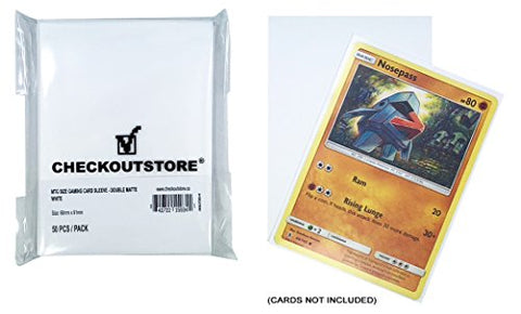 Checkoutstore (300) Protective Sleeves For Trading Cards (66 X 91 Mm) (Double Matte White)