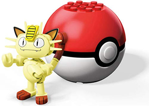 Mega Construx Pokemon Meowth Figure