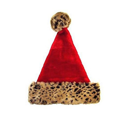 Christmas House Leopard Santa Hat
