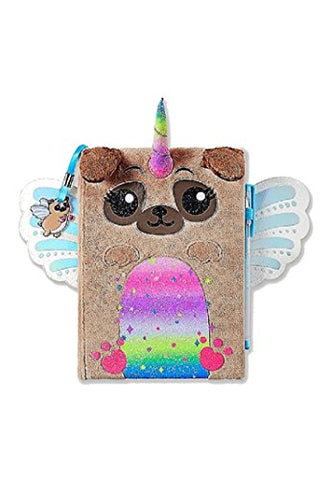 Justice For Girls Pugicorn Faux Fur Journal Diary