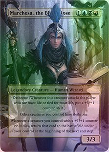 Marchesa, The Black Rose - Casual Play Only - Customs Altered Art Foil