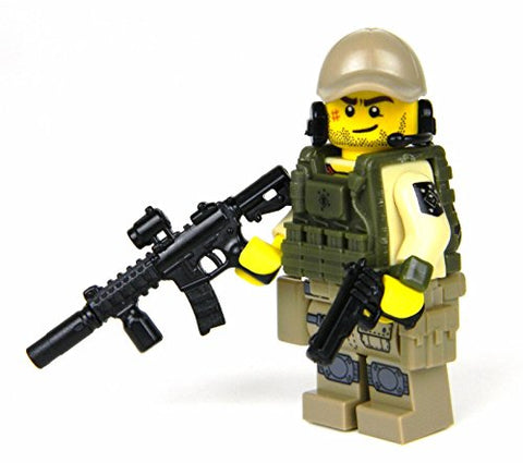 Marine Raider Special Forces Minifigure (Sku61)- Battle Brick Custom Minifigure