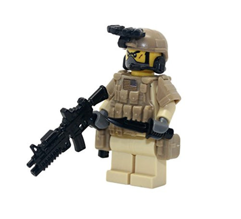 Navy Seal Team 6 Desert Commando - Modern Brick Warfare Custom Minifigure