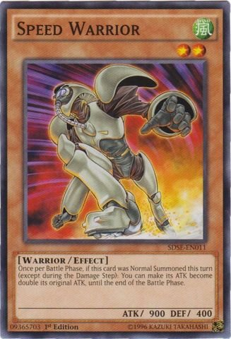 Yu-Gi-Oh! - Speed Warrior (Sdse-En011) - Structure Deck: Synchron Extreme - 1St Edition - Common