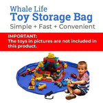 Whale Life Toy Storage Bag With Drawstring, Portable Play Floor Mat And Toys Favor Bag, Large Toys Organizer And Container, Big Toy Sack Bag For Baby And Older Kids (Pink Magenta)