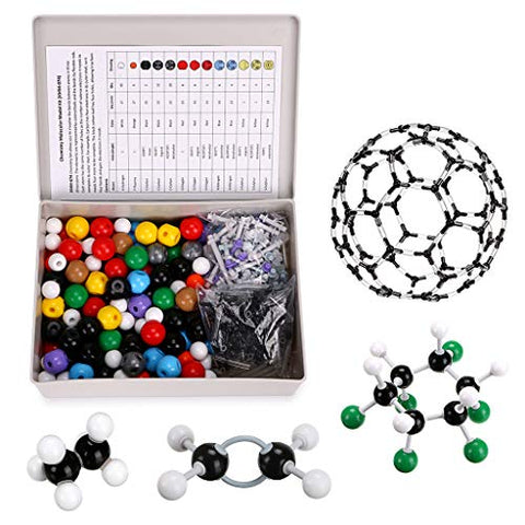 Sumnacon Organic Chemistry Class Molecular Model Kit 440Pcs Inorganic Biochemistry Molecular Model Kit For Student,Teachers Biochemist Toxicologists Study,132 Atoms + 157 Bonds + 150 Parts+1 Remover