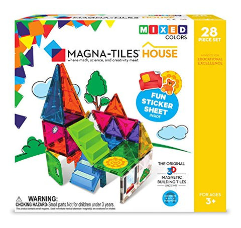 Magna-Tiles 18332 28Piece House Set, The Original, Award-Winning Magnetic Building Creativity &Amp; Educational, Stem Approved, Solid &Amp; Clear Colors